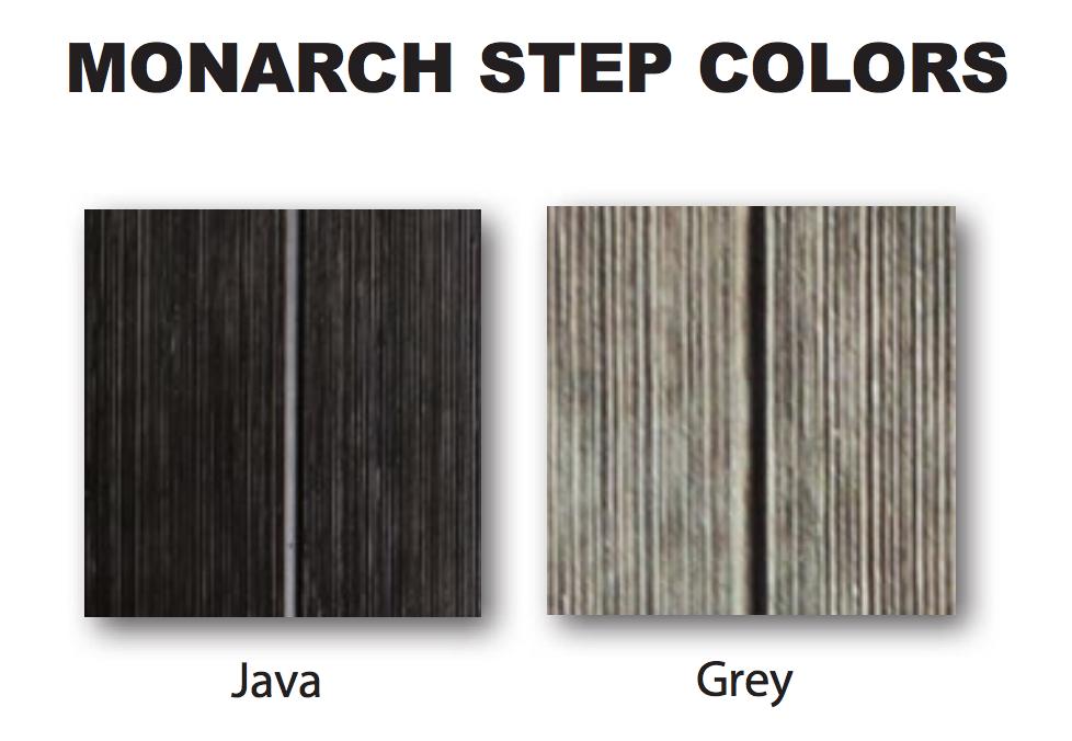 Monarch schody - farby