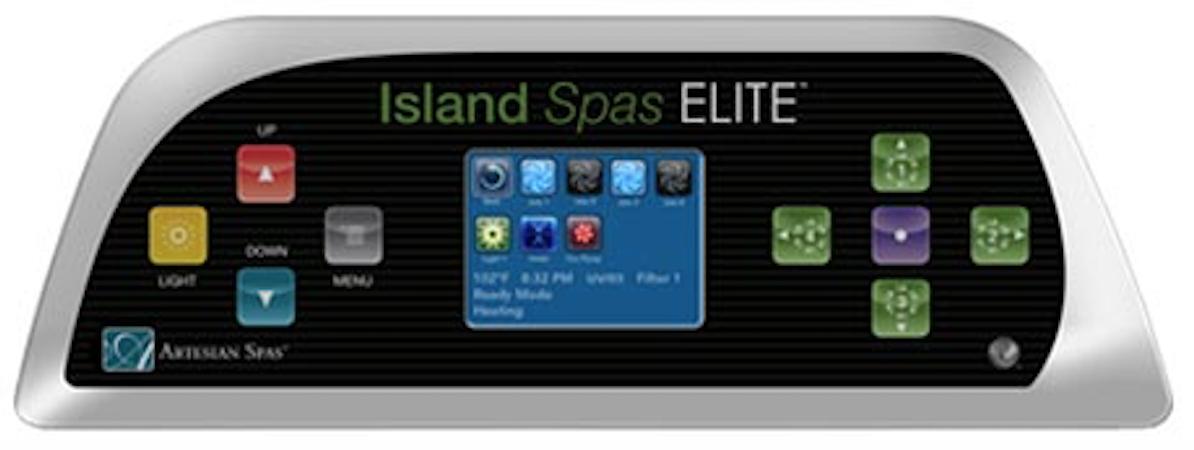 ovládací panel Island Spas